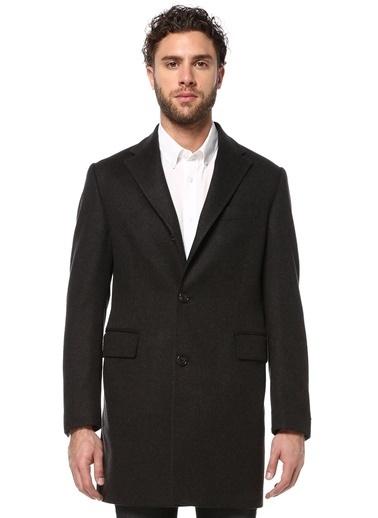 Beymen Collection İngiliz Yaka Klasik Yün Palto Füme